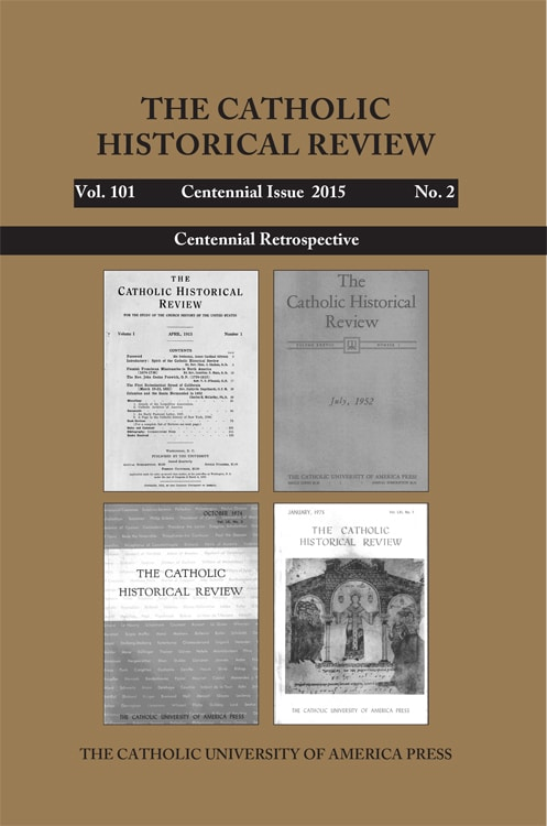 Catholic Historical Review - Centennial Issue 2