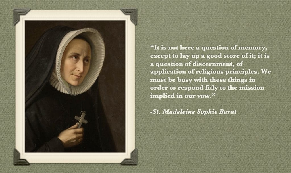 St. Madeleine Sophie Barat, French Founder of the Order, provided an important reminder of the many reasons #Catholic archives matter past, present, and future.