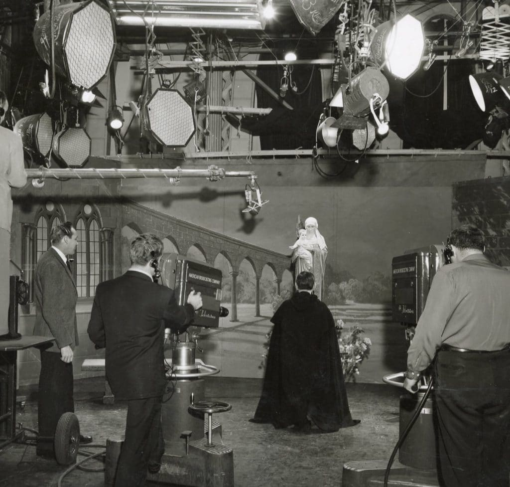 "The set for the television program ""Behold Thy Mother"" in the ABC studio in Chicago."