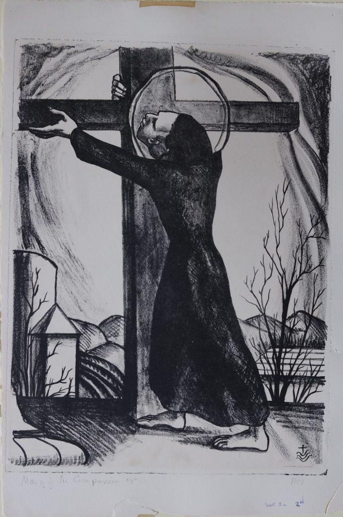 Jesus made to bear his cross