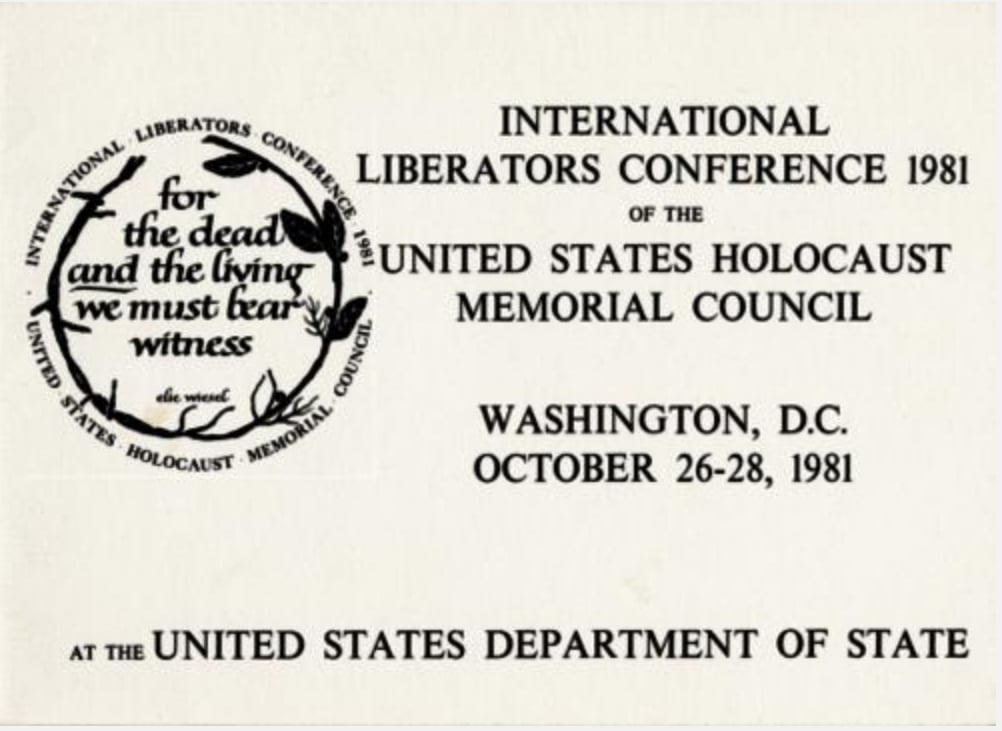 Card from the International Liberators Conference, 1981, at which Fr. Doyle spoke.