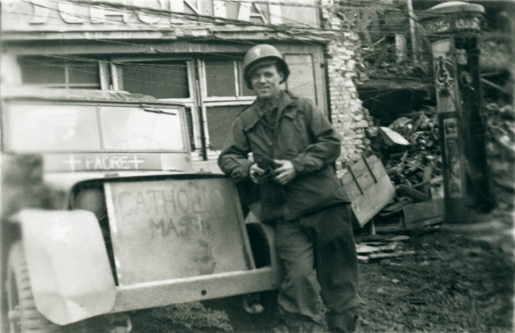 "Reverend Edward P. Doyle ""somewhere in Germany"", 1945"