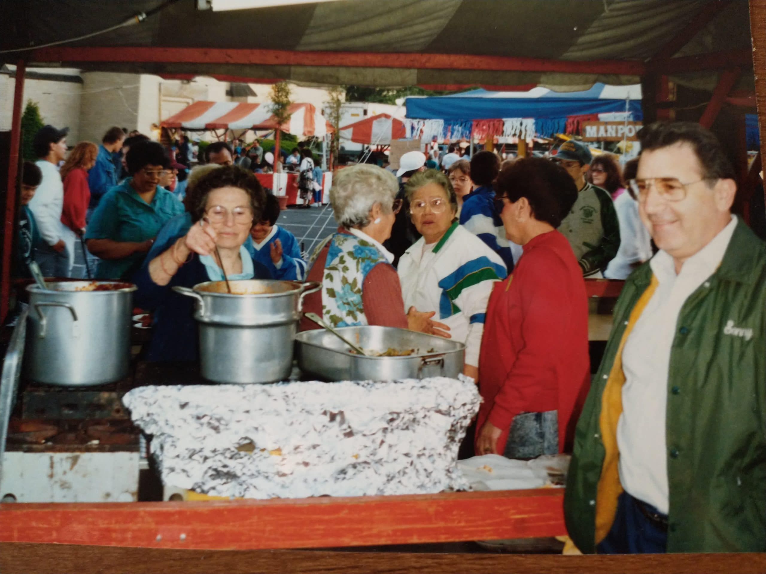 Rides, games and homemade food! Parish volunteers serve up their delicacies at the four-day Sacred Heart Funstival, which ran every May from 1978-2002