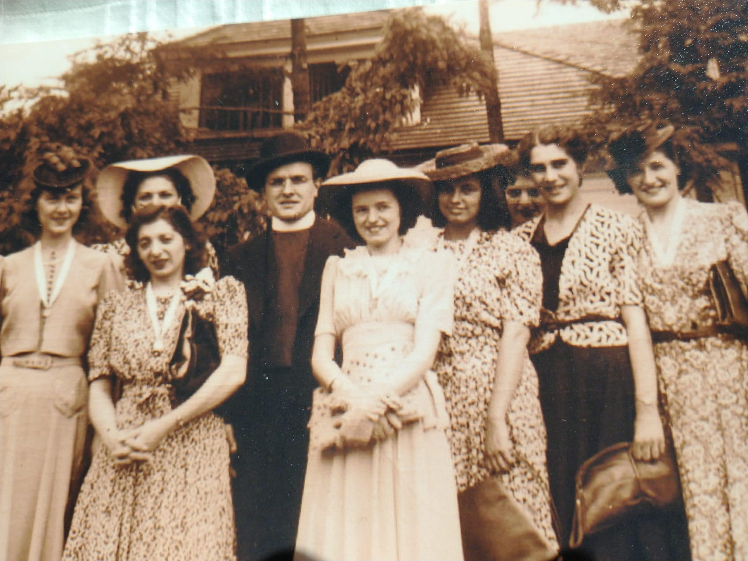Lady's Sodality, outside Pfaff's Restaurant, Metuchen, NJ, June 12, 1938