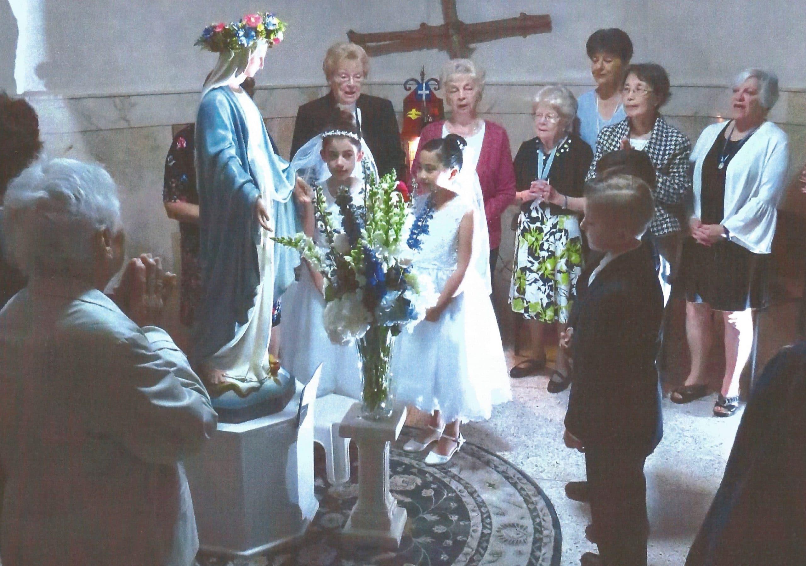 May Crowning, 2019, Church chapel, Rosary Altar Society