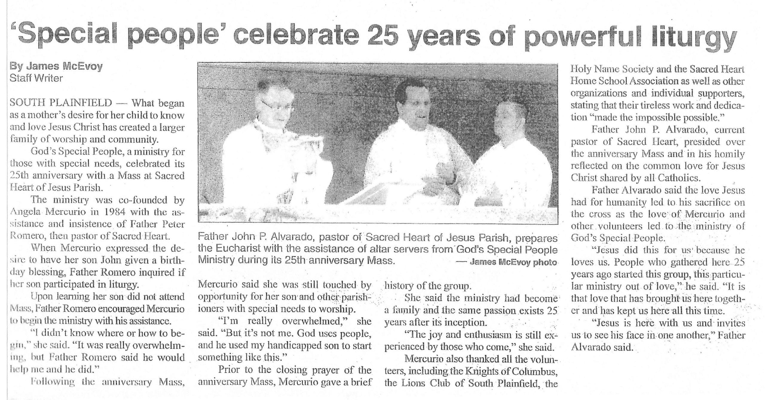 God's Special People celebrates 25th anniversary, 2009