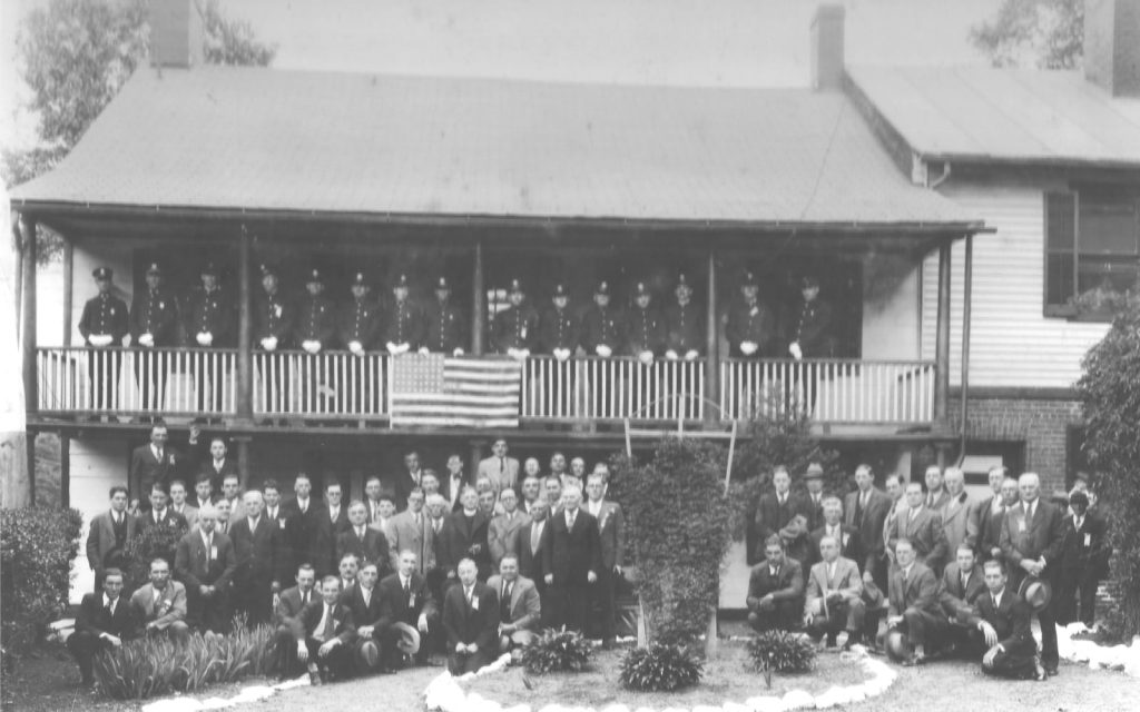 Sacred Heart Holy Name Society Communion Breakfast at the Washington House, Watchung, NJ., ca 1930.
